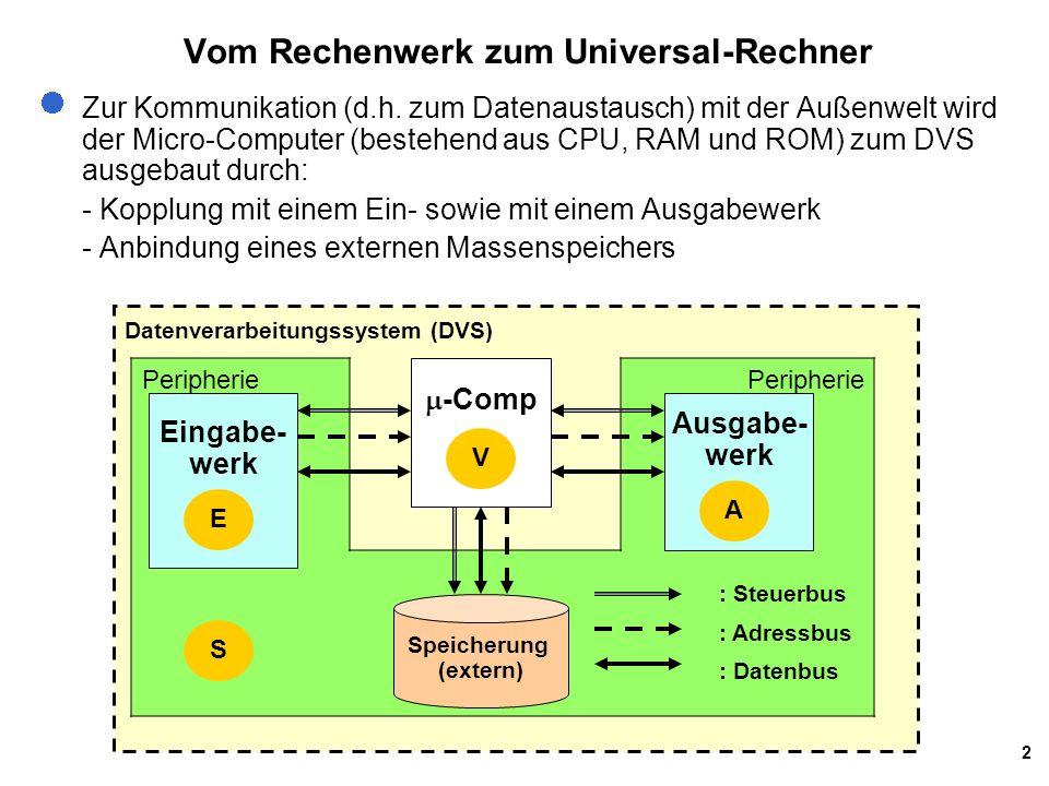 Vom Rechenwerk zum Universal-Rechner