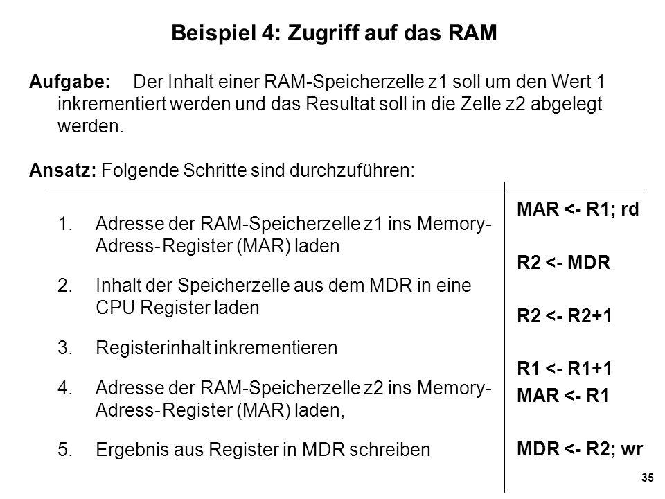 Beispiel 4: Zugriff auf das RAM