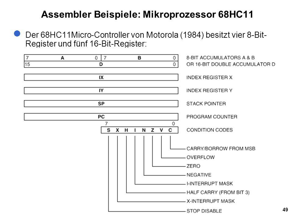 Assembler Beispiele: Mikroprozessor 68HC11