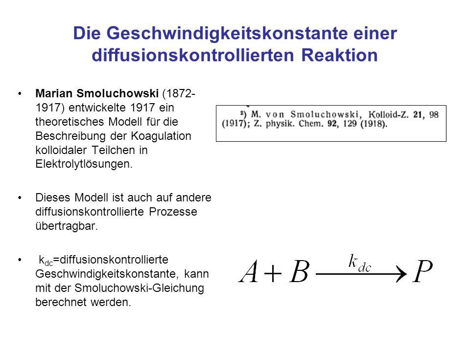 Die Geschwindigkeitskonstante einer diffusionskontrollierten Reaktion
