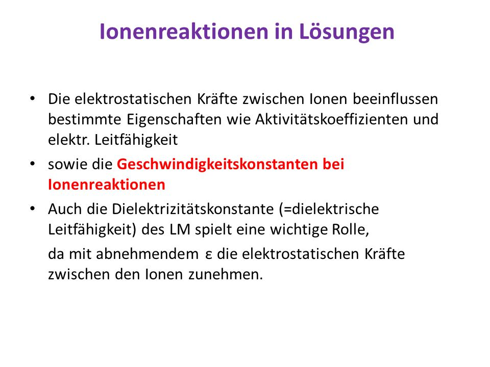 Ionenreaktionen in Lösungen