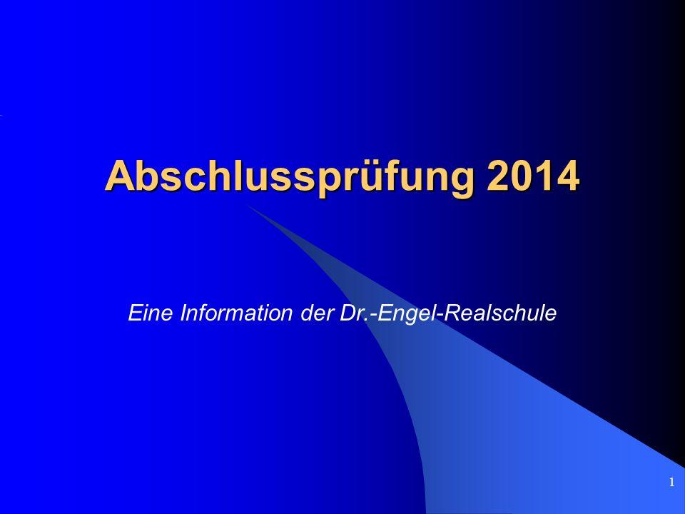 Eine Information der Dr.-Engel-Realschule