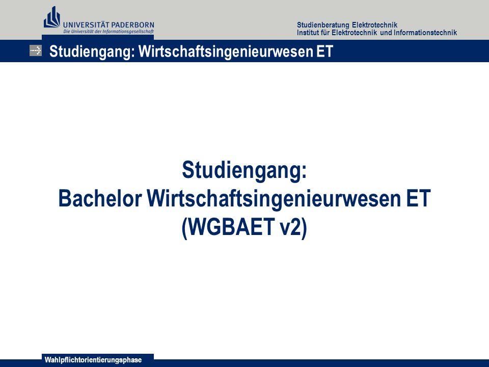 Bachelor Wirtschaftsingenieurwesen ET