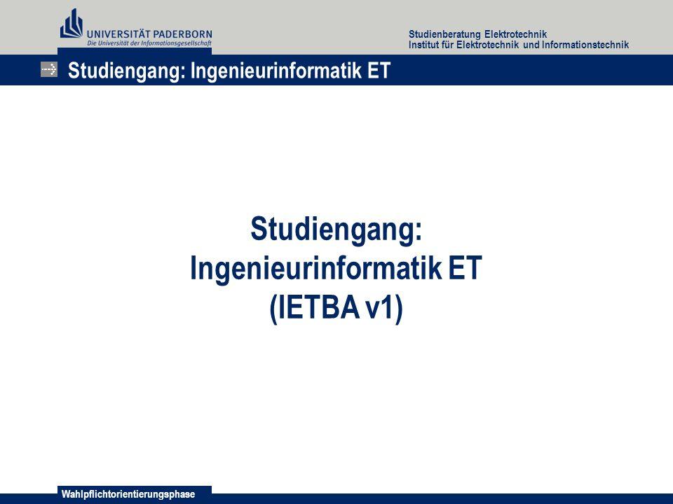 Ingenieurinformatik ET