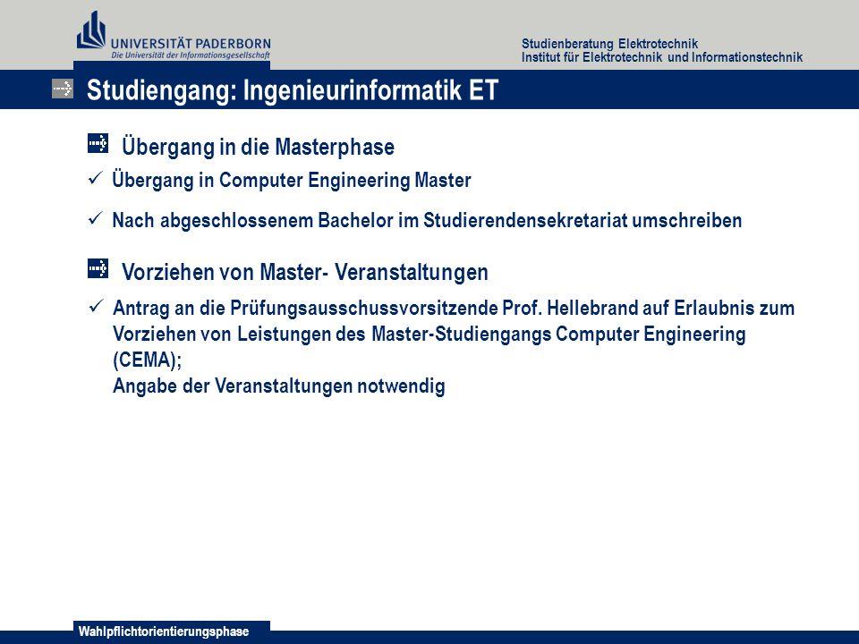 Studiengang: Ingenieurinformatik ET