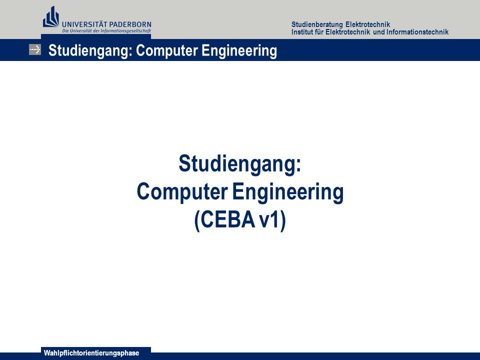 Studiengang: Computer Engineering (CEBA v1)