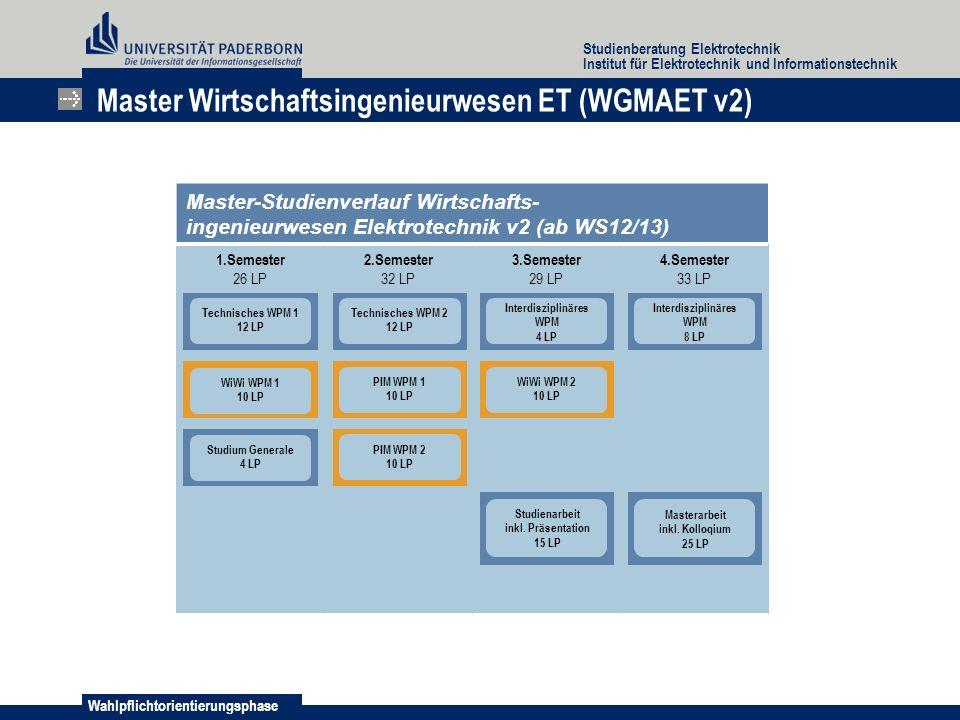 Master Wirtschaftsingenieurwesen ET (WGMAET v2)