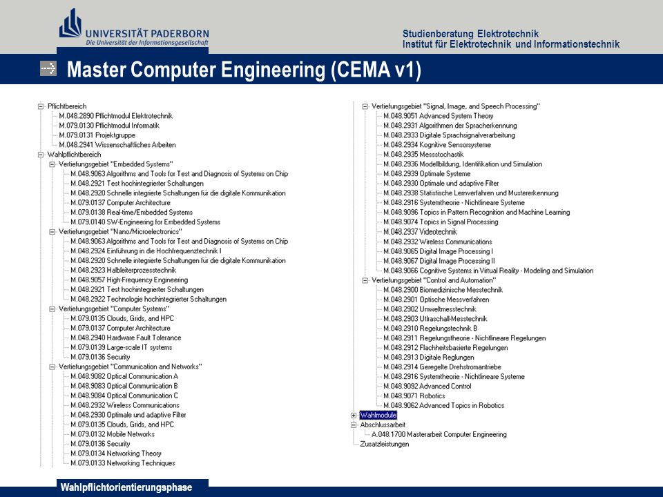 Master Computer Engineering (CEMA v1)