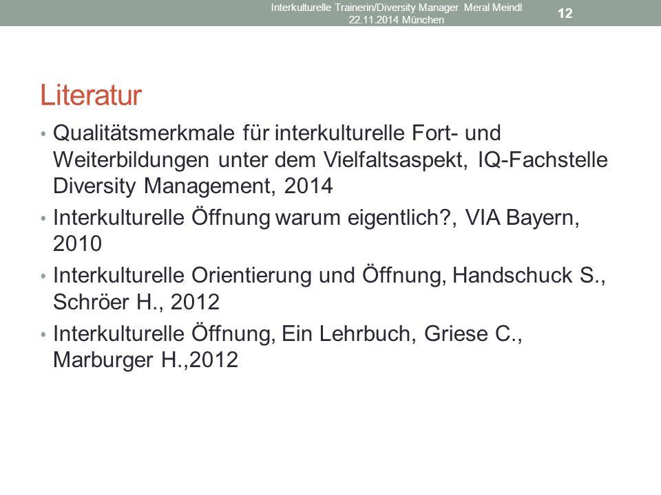 Interkulturelle Trainerin/Diversity Manager Meral Meindl 22. 11