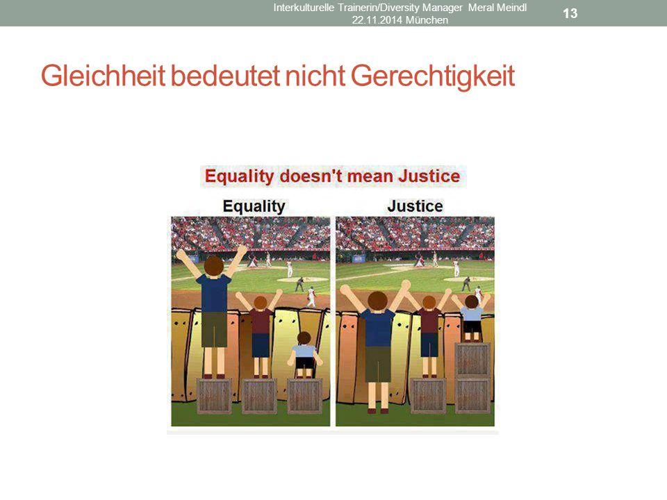Gleichheit bedeutet nicht Gerechtigkeit