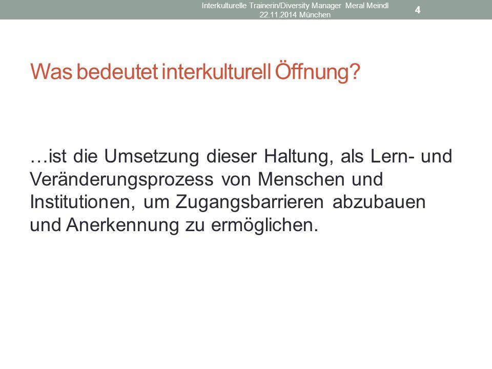 Was bedeutet interkulturell Öffnung
