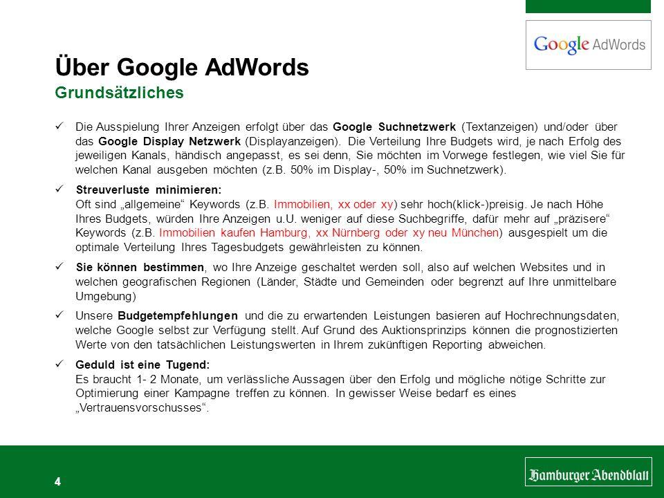 Über Google AdWords Grundsätzliches
