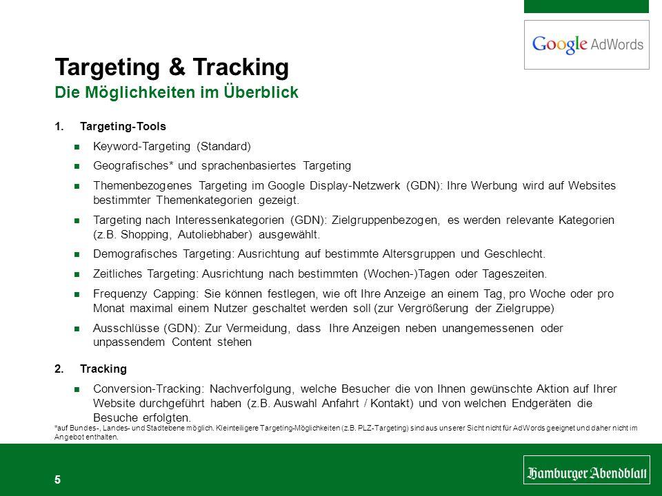Targeting & Tracking Die Möglichkeiten im Überblick Targeting-Tools