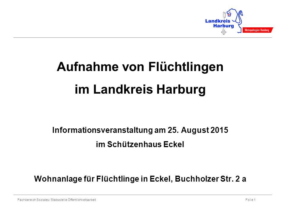 Aufnahme von Flüchtlingen im Landkreis Harburg Informationsveranstaltung am 25.