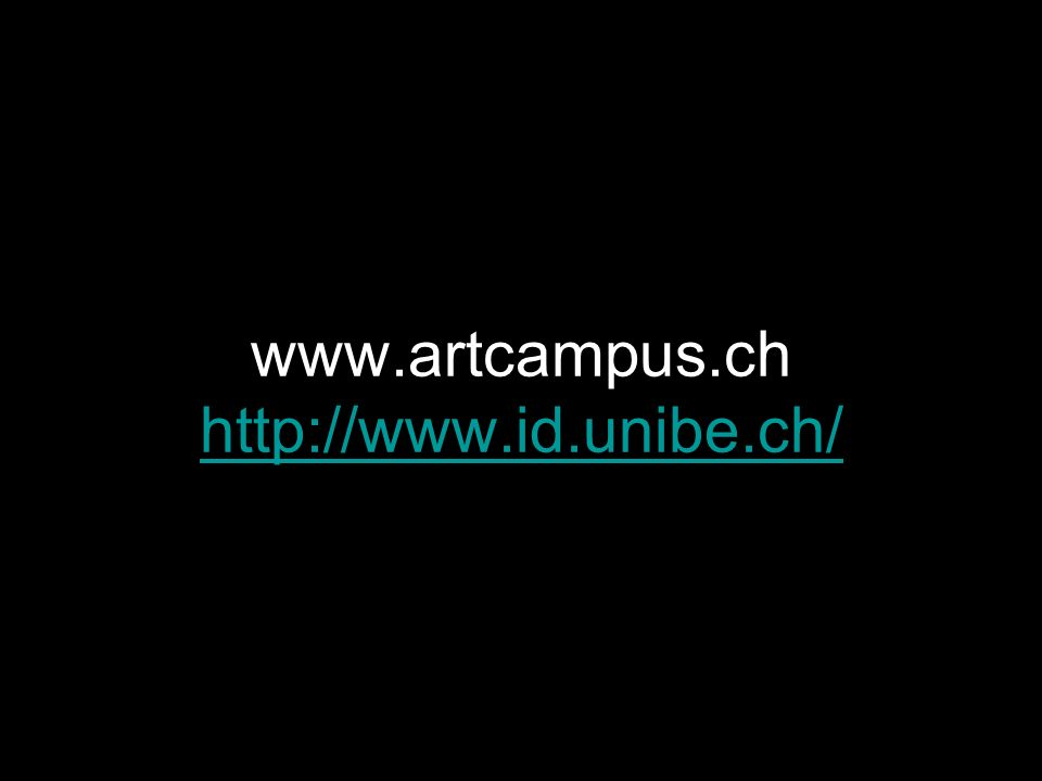 www.artcampus.ch http://www.id.unibe.ch/
