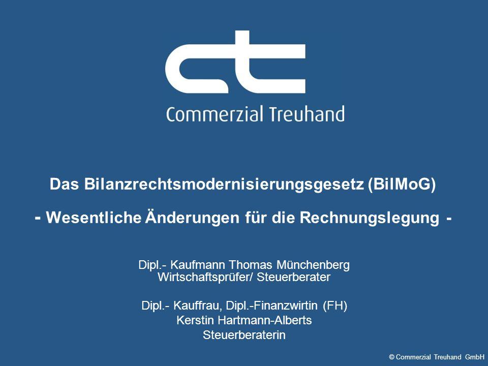Das Bilanzrechtsmodernisierungsgesetz (BilMoG) - Wesentliche Änderungen für die Rechnungslegung -