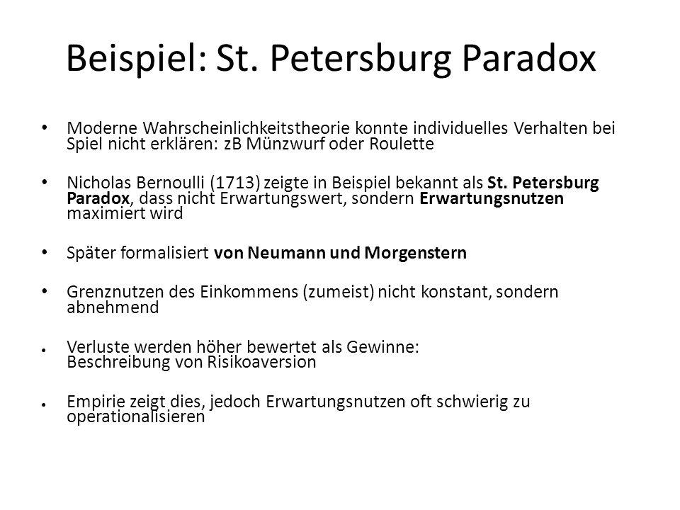 Beispiel: St. Petersburg Paradox