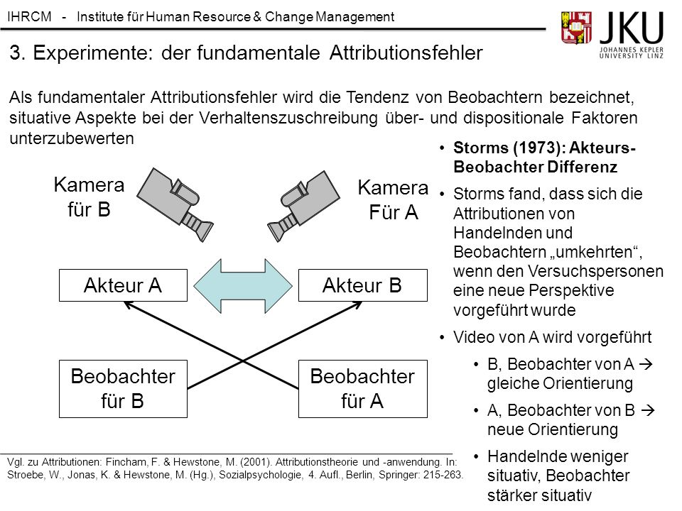 3. Experimente: der fundamentale Attributionsfehler