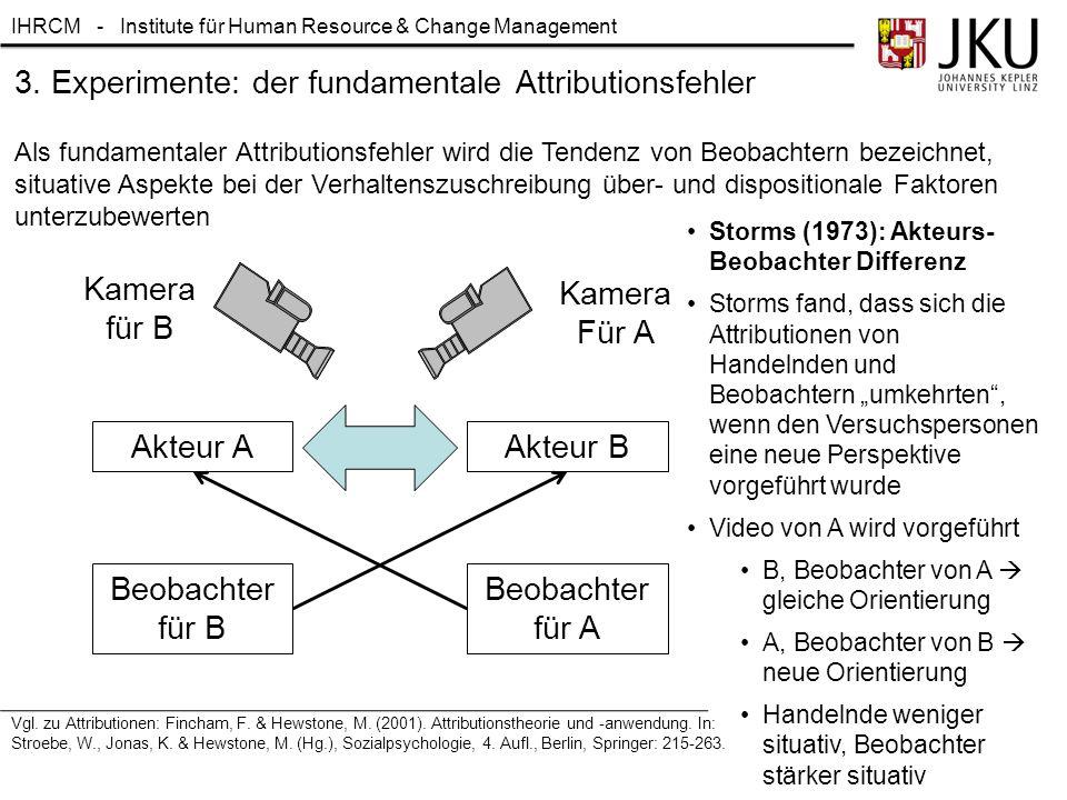 3. Experimente: der fundamentale Attributionsfehler