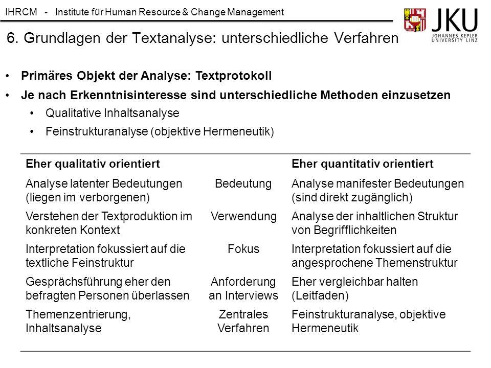 6. Grundlagen der Textanalyse: unterschiedliche Verfahren
