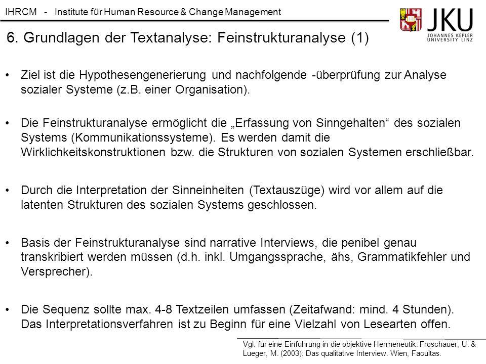 6. Grundlagen der Textanalyse: Feinstrukturanalyse (1)