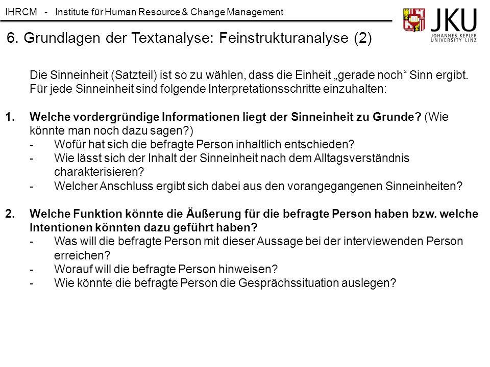 6. Grundlagen der Textanalyse: Feinstrukturanalyse (2)