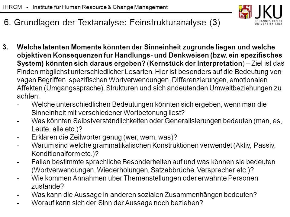 6. Grundlagen der Textanalyse: Feinstrukturanalyse (3)