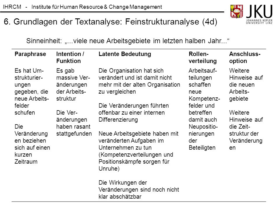 6. Grundlagen der Textanalyse: Feinstrukturanalyse (4d)