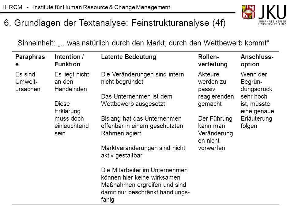 6. Grundlagen der Textanalyse: Feinstrukturanalyse (4f)
