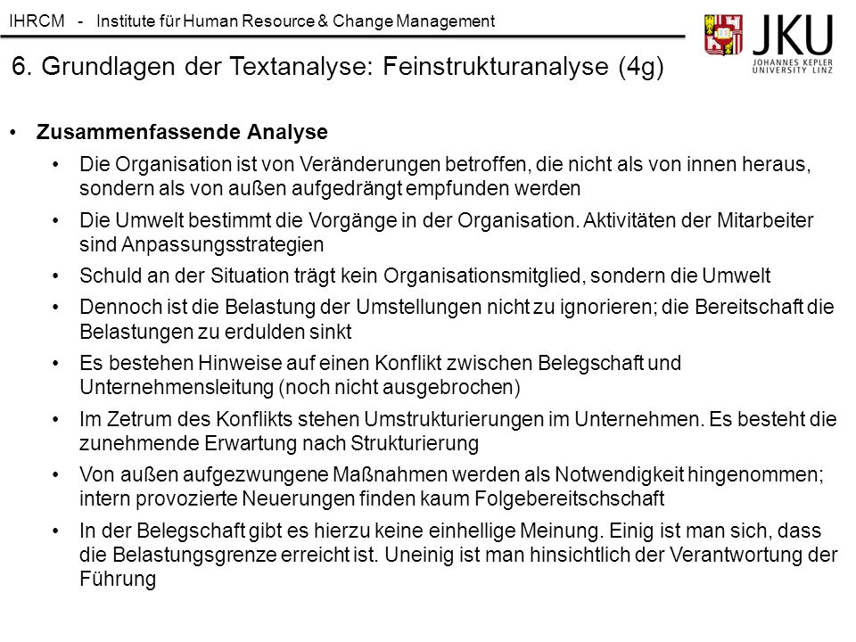 6. Grundlagen der Textanalyse: Feinstrukturanalyse (4g)