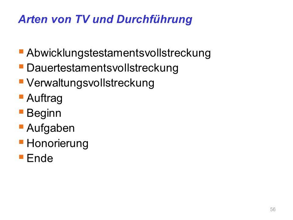 Arten von TV und Durchführung