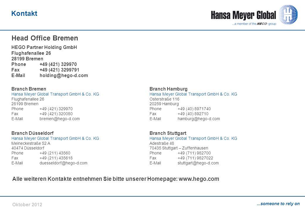 Kontakt Head Office Bremen