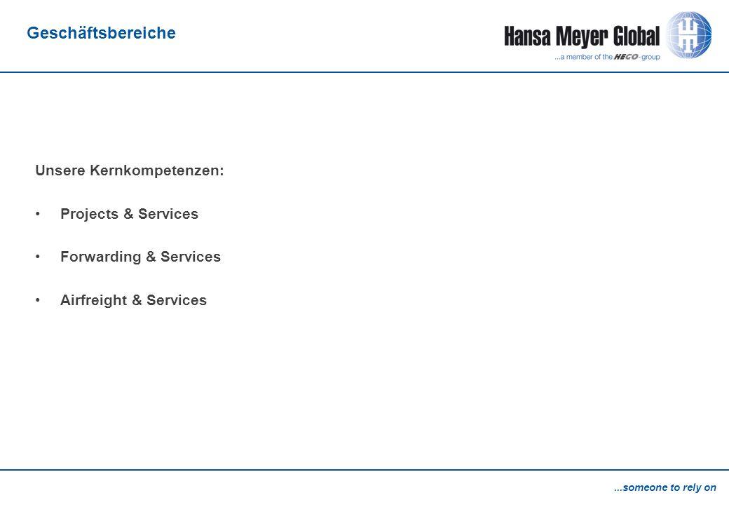 Geschäftsbereiche Unsere Kernkompetenzen: Projects & Services