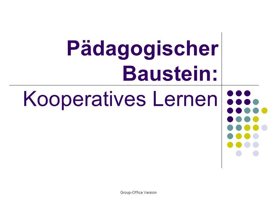 Pädagogischer Baustein: Kooperatives Lernen