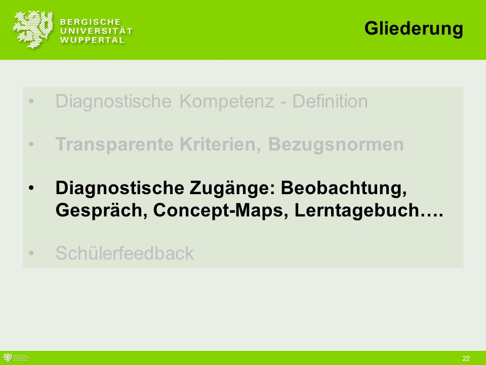 Diagnostische Kompetenz - Definition