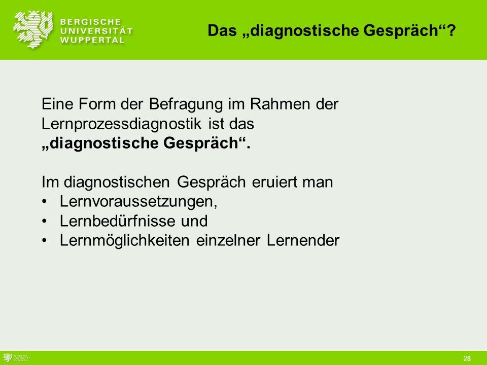 """Das """"diagnostische Gespräch"""