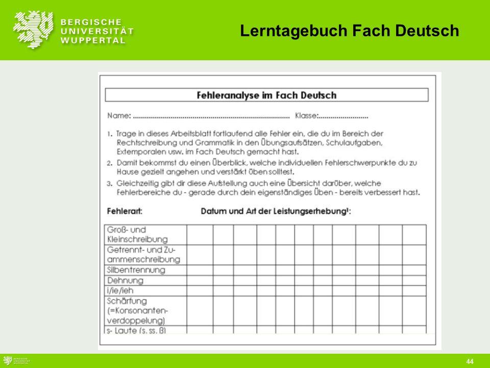 Lerntagebuch Fach Deutsch