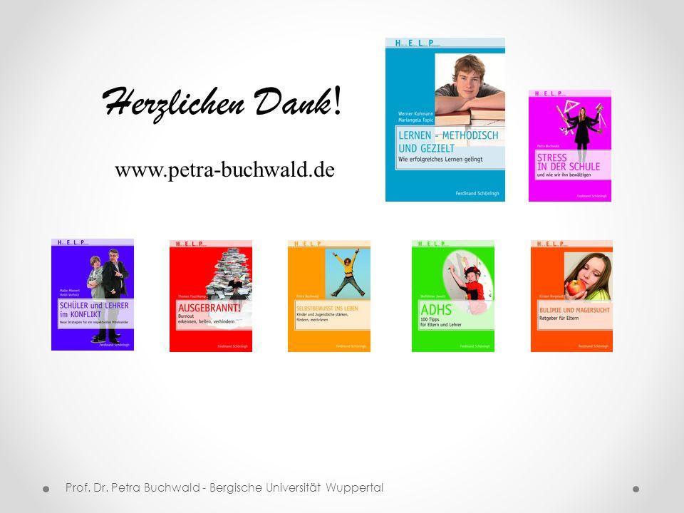 Herzlichen Dank! www.petra-buchwald.de