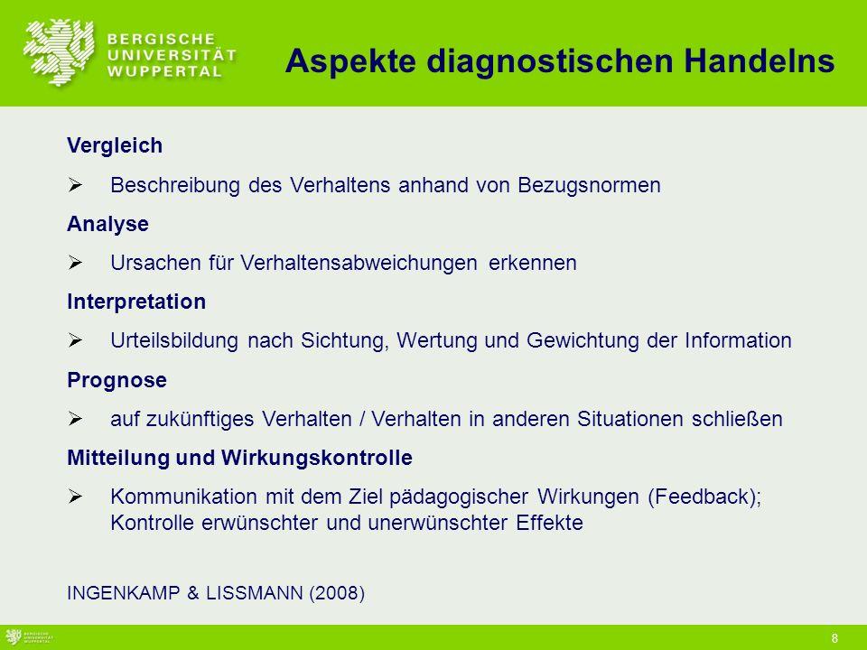 Aspekte diagnostischen Handelns