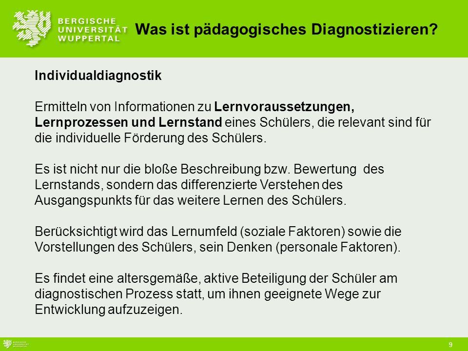 Was ist pädagogisches Diagnostizieren