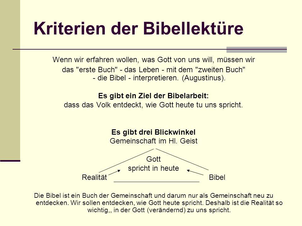 Kriterien der Bibellektüre