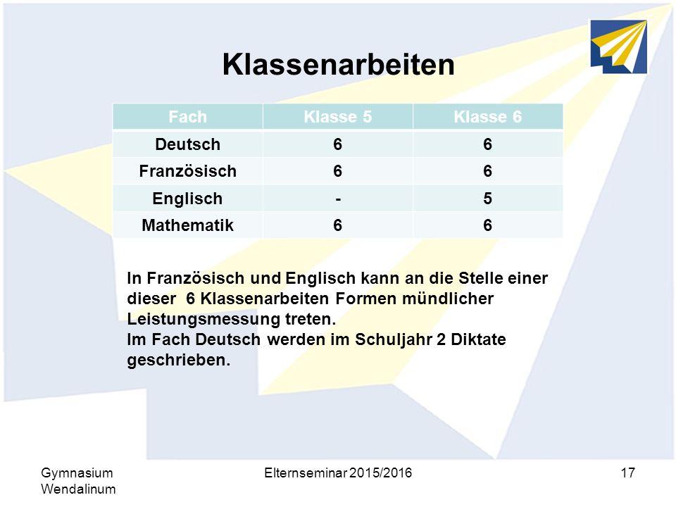 Klassenarbeiten Fach Klasse 5 Klasse 6 Deutsch 6 Französisch Englisch