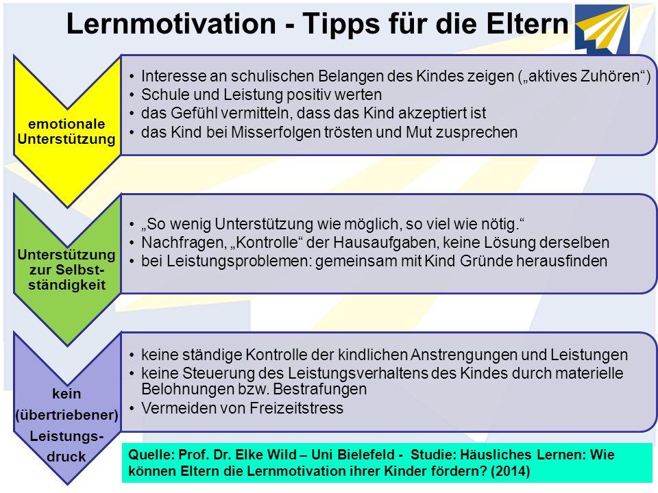 Lernmotivation - Tipps für die Eltern