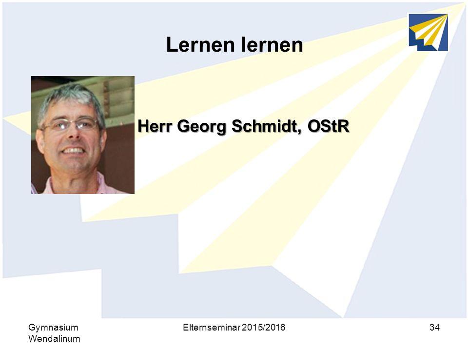 Herr Georg Schmidt, OStR
