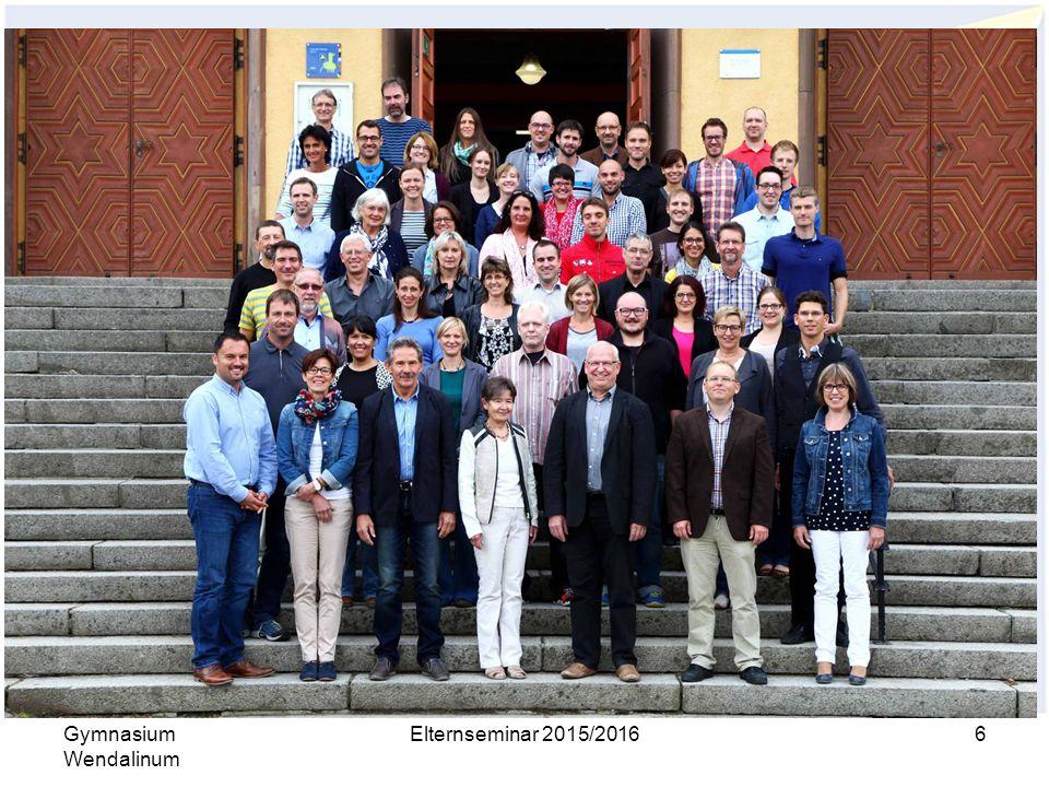 Organisation Kollegium Gymnasium Wendalinum Elternseminar 2015/2016