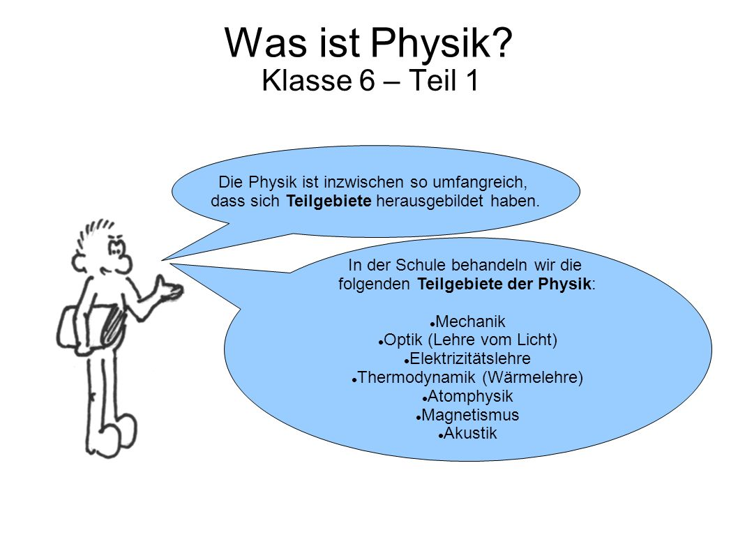 Was ist Physik Klasse 6 – Teil 1