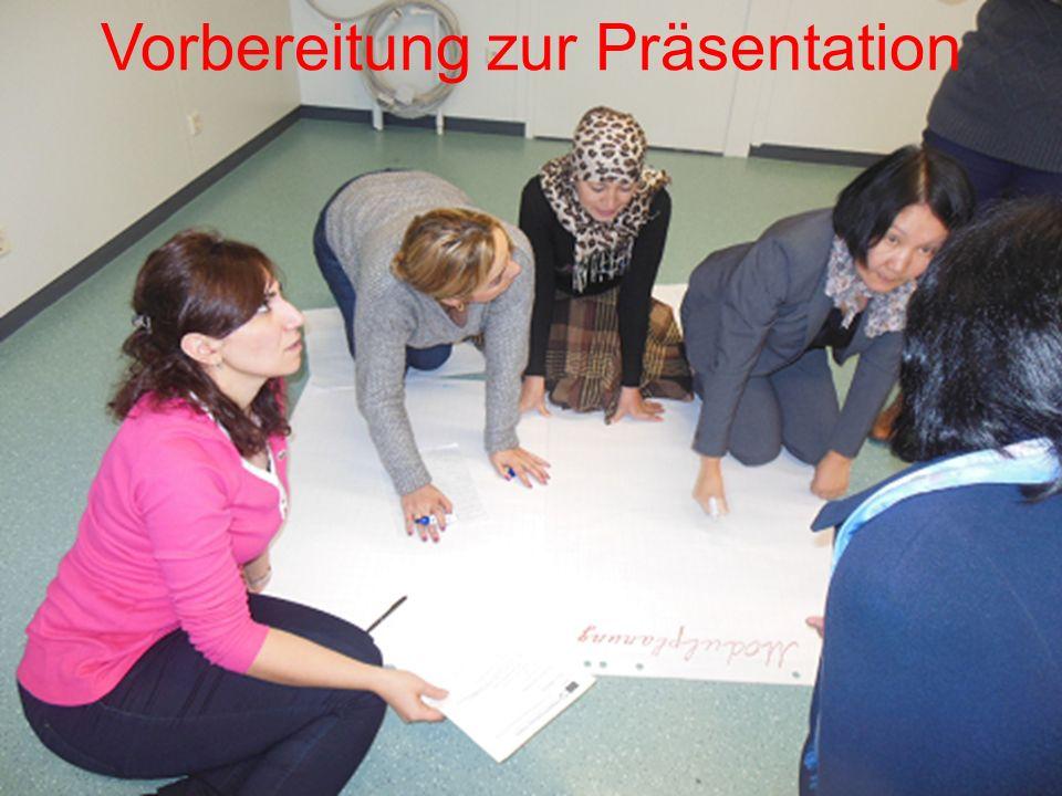 Vorbereitung zur Präsentation