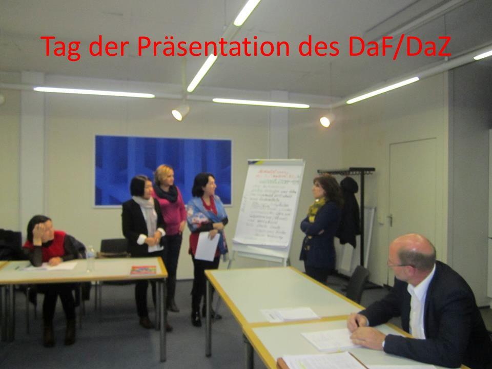 Tag der Präsentation des DaF/DaZ