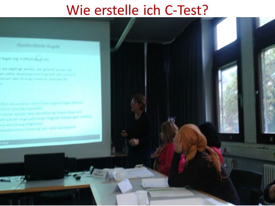 Wie erstelle ich C-Test