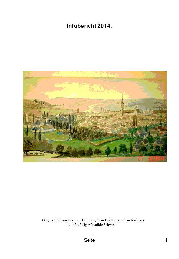 Infobericht 2014. Originalbild von Hermann Gehrig, geb. in Buchen, aus dem Nachlass von Ludwig & Matilde Schwinn.
